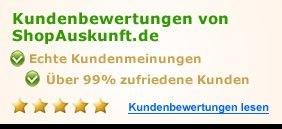Kundenbewertungen von Shopauskunft.de